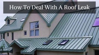 How To Deal With A Roof Leak